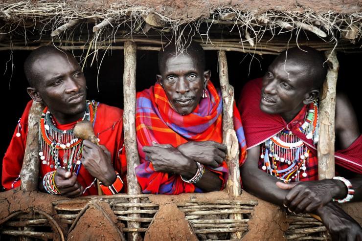 02-David-Lazar-Three-Masai-Warriors-740x493