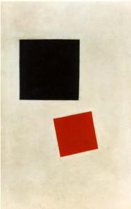 7. ábra: K. Malevics: Szuprematista kompozíció