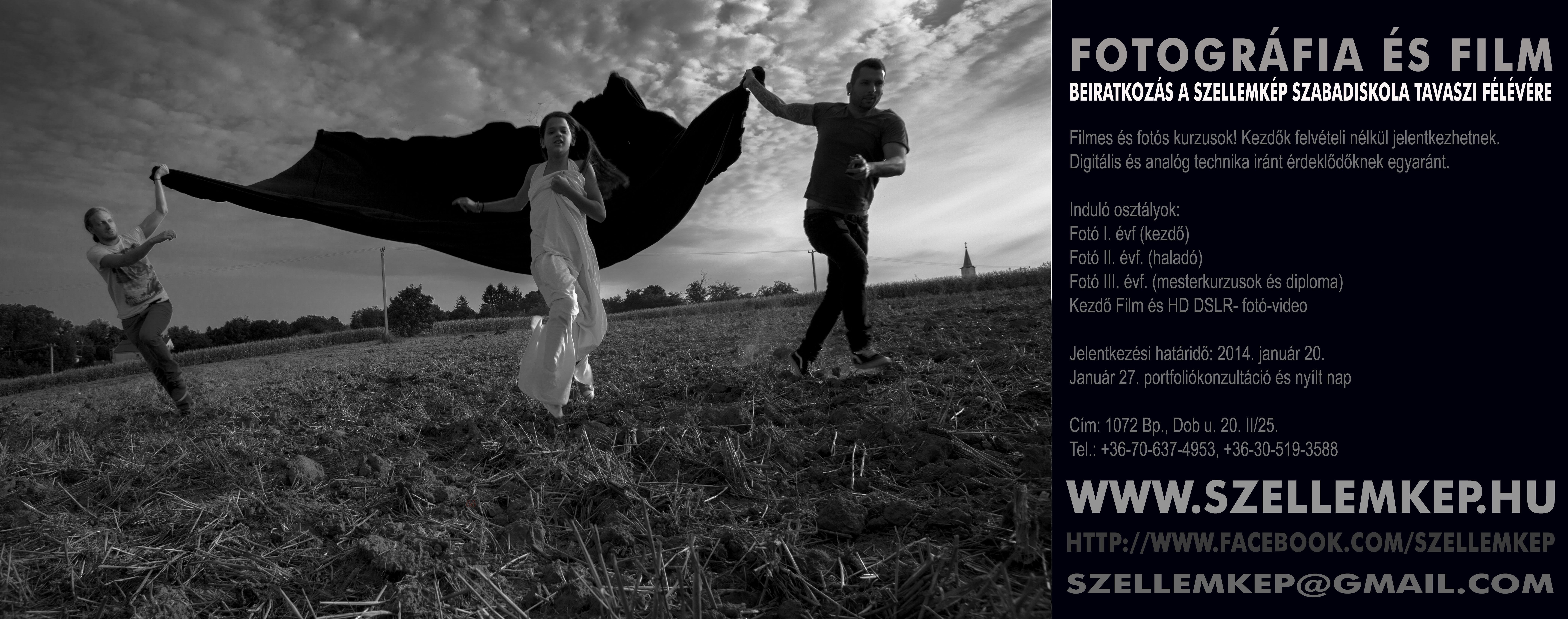 FOTÓS ÉS FILMES KURZUSOK -Beiratkozás a Szellemkép Szabadiskola tavaszi félévére